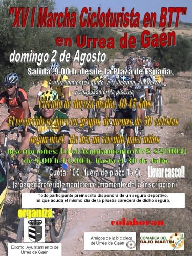 cartel cicloturista Urrea 2015